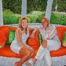 "Debi and Bob Crews 36""h x 48""w (91.44cm x 122cm)"