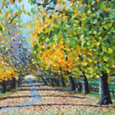 """Autumn Leaves print 20""""h x 32""""w (50.8cm x 81.28cm)"""