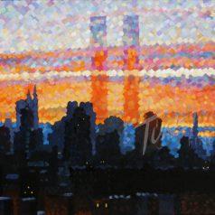 """Cityscape 24""""h x 30""""w (60.96cm x 76.20) Original Sold"""