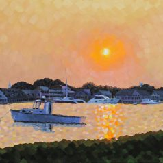 "Edgartown Sunset 24""h x 30""w (60.96cm x 91.44cm) Original Sold"