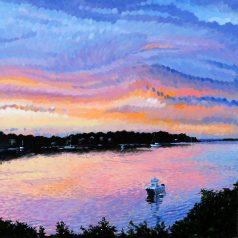 """Rainbow Sunset 24""""h x 24""""w  (60.96 x 60.96)"""