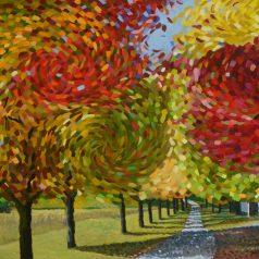 "Autumn Stroll 36""h x 48""w (91.44cm x 122cm)"