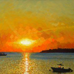 "Vineyard Haven Sunrise 24""h x 48""w (60.96cm x 122cm)"